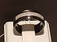 Серебряное кольцо с керамикой и фианитами. Артикул КК2ФК/1009-К(Ж)
