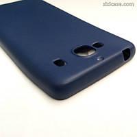 Силиконовый матовый чехол для Xiaomi Redmi 2 (синий)