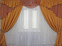 Комплект ламбрекен (№50) с шторами на карниз 2,5-3м. 050лш071