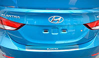 накладка на зад бампер Hyundai Elantra 2012