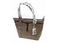 Стильная сумка коричневого цвета на два отделения