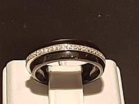 Серебряное кольцо с керамикой и фианитами. Артикул КК2ФК/1000 16,5, фото 1