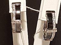 Серебряные серьги с керамикой. Артикул СК2ФК/1001, фото 1
