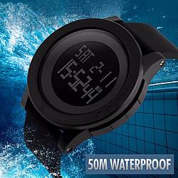 Стильные спортивные наручные часы Skmei 1142. Черный.