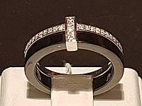 Серебряное кольцо с керамикой и фианитами. Артикул КК2ФК/1001-Д(З), фото 1
