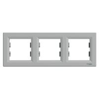 Рамка тройная Schneider Electric Asfora горизонтальная Алюминий EPH5800361