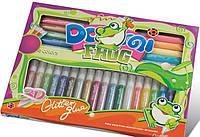 Клей-краски с блеском, оформительские, 28шт*10,5 мл, DOMI FROG GG-009, Pasco, 303130