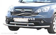 Защита переднего бампера Honda CR-V 2006-2012 двойной ус