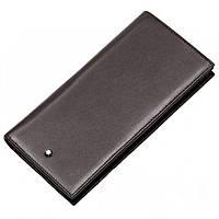 Кожаный кошелек Montblanc MOI-9403C коричневый