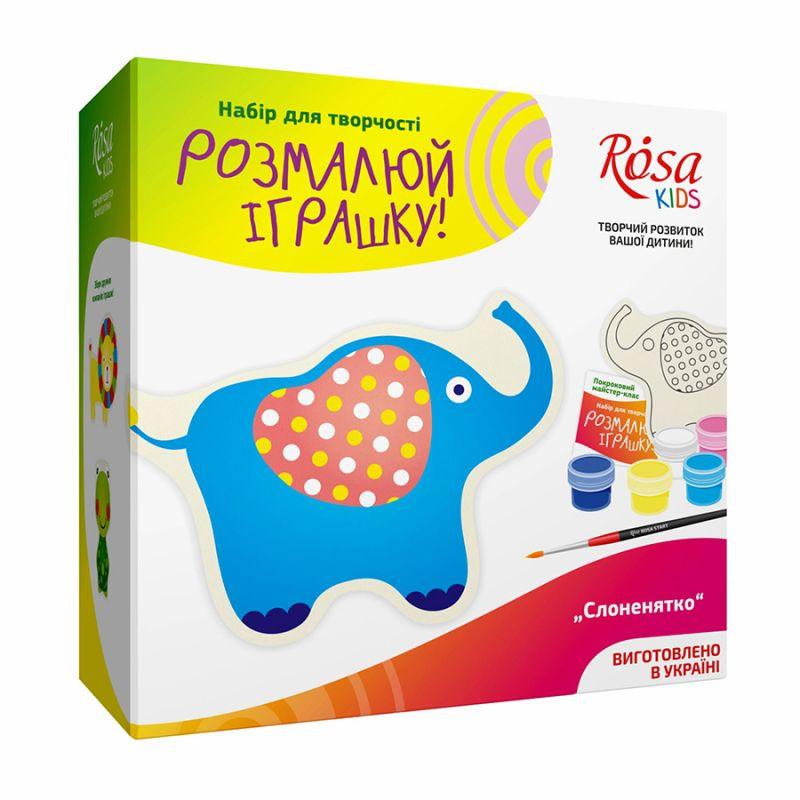 """Набор, разрисуй игрушку из ткани """"Слоненок"""", ROSA KIDS, 003003 - Accent-office в Житомире"""