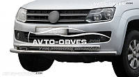 Защитная дуга передняя на VW Amarok двойная труба