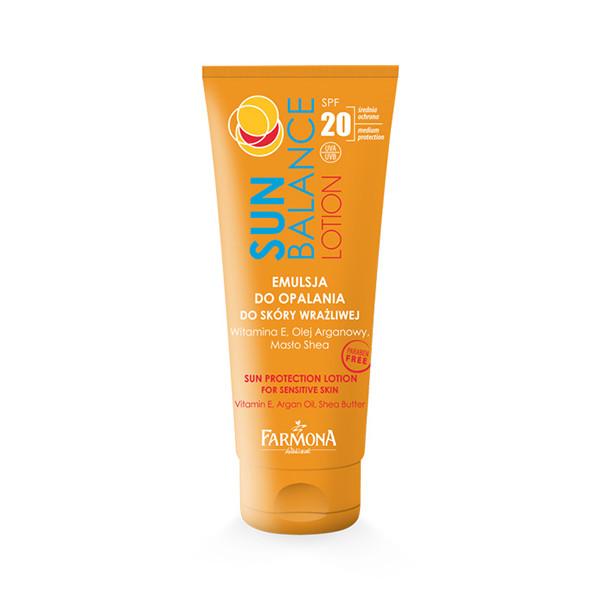 Сан Баланс Лосьон солнцезащитный для загара для чувствительной кожи SPF 20, 200 мл - Красива Я в Одессе