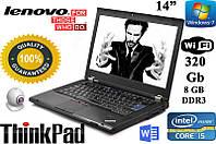 "Хороший бизнес ноутбук Lenovo ThinkPad T420 14"" i5 8GB DDR3 320GB"