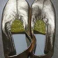 Чешки танцевальные гимнастические кожаные золотые, серебряные, розовые