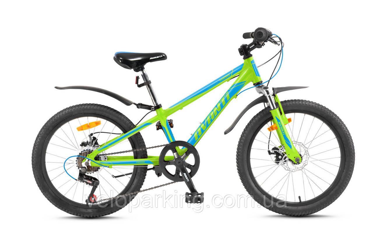 Горный спортивный детский алюминиевый велосипед Avanti Turbo 20 VB (2017) new