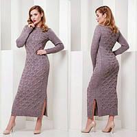 Женское длинное платье с разрезами 882