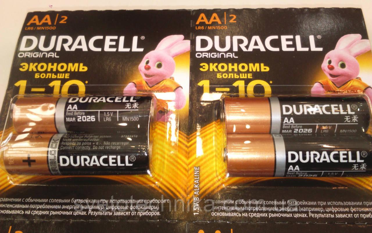 Батарейка щелочная(12шт.)Duracell R6 UM4 AA1.5V на блистере