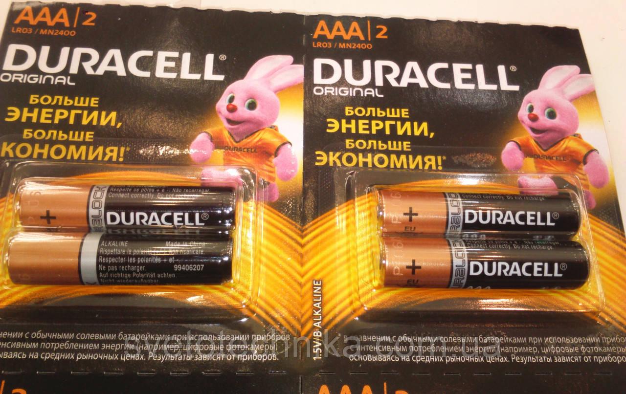 Батарейка щелочная(12шт.)Duracell R3 UM4 AAA 1.5V на блистере