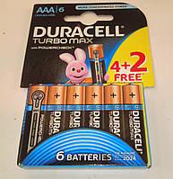 Батарейка (6шт.) Duracell Turbo R3 UM6 AAA 1.5V на блистере