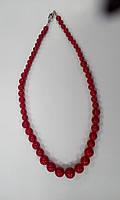 Коралл красный, пресс Бусы от меньшего к большему от 4мм до 14мм 45см