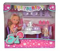 """Кукольный набор Еви """"Вечеринка для домашних любимцев"""" с лакомствами и аксес., 3+"""