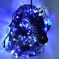 Гирл. эл. 200 d ламп RGB (сетка) син.бел. **