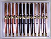 Ручка BP-360A шариковая синяя ( корпус черныый, розовый, красный) уп12