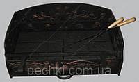 Барбекю - чугунная вставка - шириной 900 мм