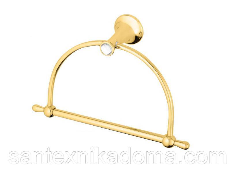 Кольцо для полотенца, золото, кристаллы