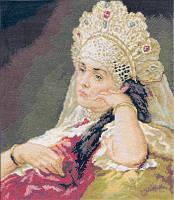 """Набор для вышивки крестом """"Panna"""" Девушка в жемчужном ожерелье ВХ-904"""
