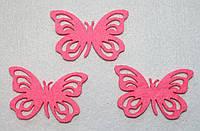 Высечка Бабочка розовая ажурная 369, фото 1