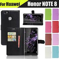 Кожаный чехол книжка для HUAWEI Honor Note 8 (9 цветов)