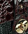 Женский клатч из экокожи Traum 7212-42, черный с бордовым, фото 4