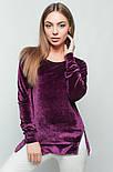 Женская стильная кофточка из дорогого велюра с молниями (3 цвета), фото 3