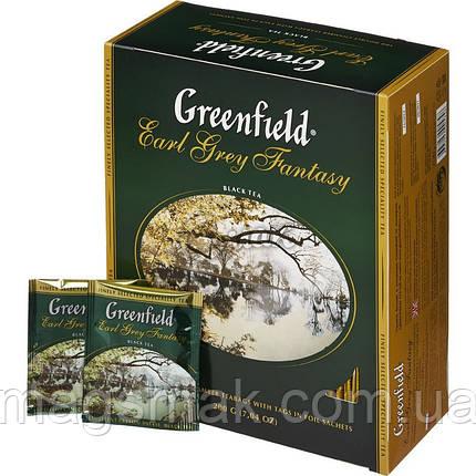 Чай Greenfield Earl Grey Fantasy, 100 пакетов , фото 2