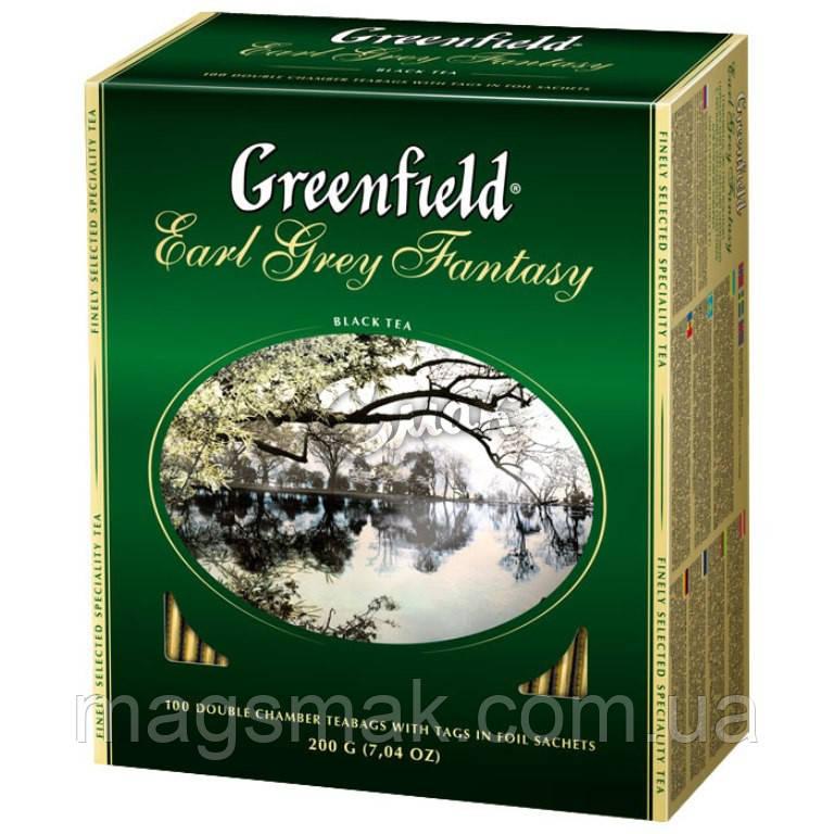 Чай Greenfield Earl Grey Fantasy, 100 пакетов