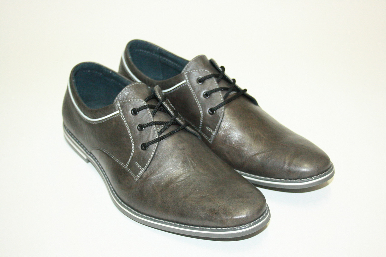 Темно-серые туфли на шнуровке / boot 18120сер.х