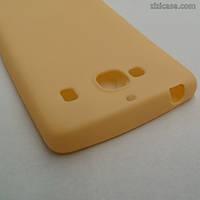 Силиконовый матовый чехол для Xiaomi Redmi 2 (персиковый)