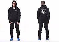 Спортивный костюм Adidas-Chelsea, Челси, Адидас, с капюшоном, черный, ф4780