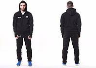 Спортивный костюм Манчестер Юнайтед, MU, Nike, Найк, маленькое лого, с капюшоном, черный, ф4782