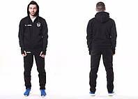Спортивный костюм Adidas-Bayern, Бавария, Адидас, с капюшоном, маленькое лого, черный, ф4789