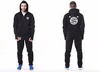 Спортивный костюм Adidas-Bayern, Бавария, Адидас, с капюшоном, большое лого, черный, ф4788