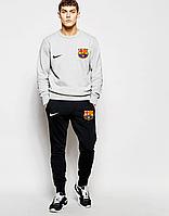 Спортивный костюм Барселона, Barcelona, Nike, Найк, серо-черный, ф4800