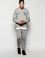 Спортивный костюм сборной Англии, England, Nike, Найк, полностью серый, ф4849