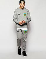 Спортивный костюм сборной Аргентины, Argentina, Adidas, Адидас, полностью серый, ф4850