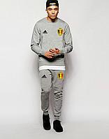 Спортивный костюм сборной Бельгии, Belgium, Адидас, Adidas, полностью серый, ф4854