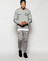 Спортивный костюм Интер, Inter, Nike, Найк, полностью серый, ф4859
