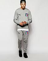 Спортивный костюм сборной Италии, Italy, Puma, Пума, полностью серый, ф4861