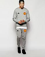 Спортивный костюм Манчестер Юнайтед, MU, Adidas, Адидас, полностью серый, ф4864
