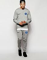Спортивный костюм ПСЖ, PSG, Nike, Найк, полностью серый, ф4866